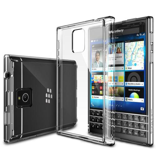 Blackberry Passport Bumper Case by Ringke [Clear] Fusion Shock Absorption TPU Bumper w/ Clear Hard Polycarbonate Back + HD Screen Protector
