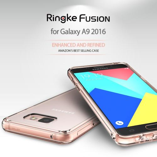 Samsung Galaxy A9 Case, Ringke [Clear] FUSION Series Absorb Shock TPU Bumper Clear Case w/ Free Screen Protector