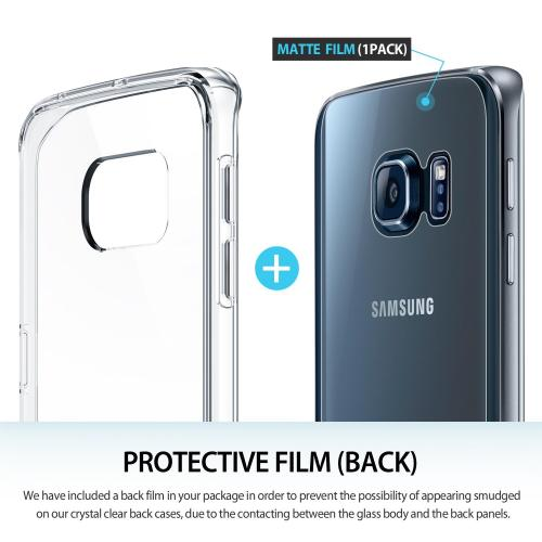 Samsung Galaxy S6 Edge Case, Ringke [Clear] FUSION Series Slim & Protective Crystal Glossy Snap-on Hard Polycarbonate Plastic Case Cover w/ Free Screen Protector