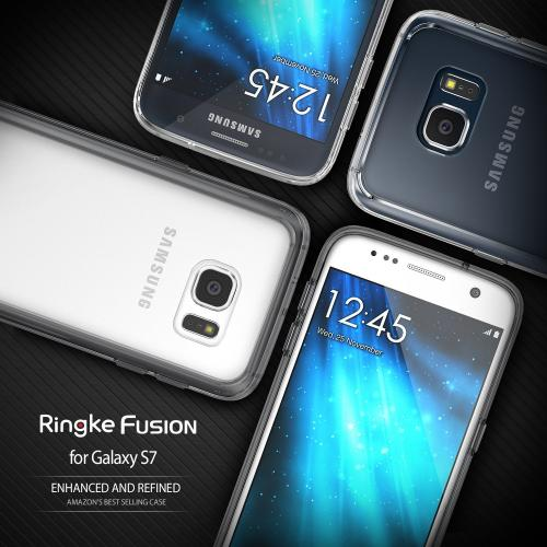 Samsung Galaxy S7 Case, Ringke [Clear] FUSION series Absorb Shock TPU Bumper Clear Case