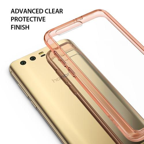 Huawei Honor 9 Case, Ringke [FUSION] Crystal Clear PC Back TPU Bumper Drop Protection Cover - Rose Gold