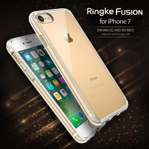 [Ringke] Apple iPhone 8 / 7 Case, [FUSION] Tough PC Back TPU Bumper Drop Protection Cover [Shadow Black]