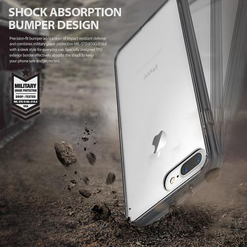 Apple iPhone 8/7/6S/6 Plus Case, Ringke [FUSION] Shock Absorption TPU Bumper Clear Case