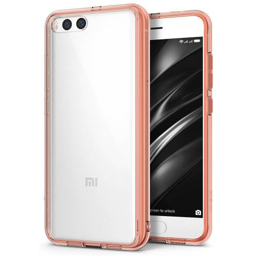 Xiaomi Mi 6 Case, Ringke [FUSION] Crystal Clear PC Back TPU Bumper Drop Protection Cover - Rose Gold