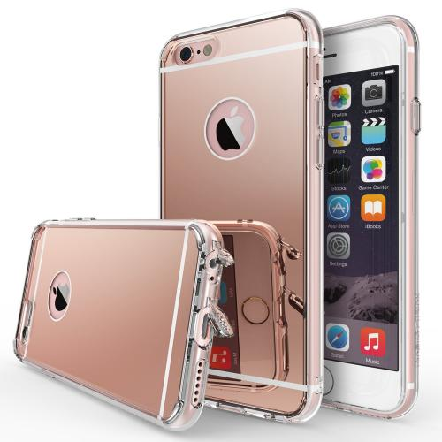 Apple iPhone 6S Case, Ringke [Rose Gold Crystal] FUSION MIRROR Drop Protection / Shock Absorption Case