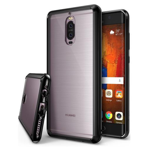 Huawei Mate 9 Pro Case, Ringke [FUSION] Crystal Clear PC Back TPU Bumper Drop Protection Cover - Ink Black
