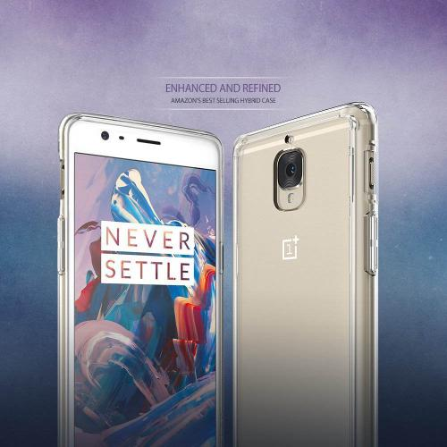 OnePlus 3, Ringke [FUSION] Shock Absorption TPU Bumper Clear Case