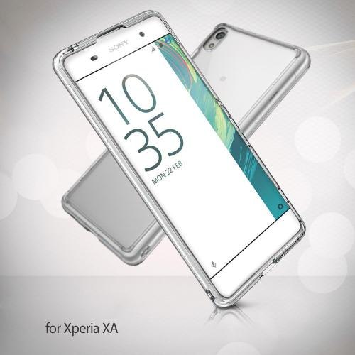 Sony Xperia X Case, Ringke [FUSION] Shock Absorption TPU Bumper Clear Case [Smoke Black]