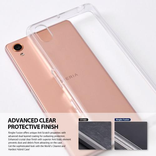 Sony Xperia X Performance/XP  Case, Ringke [Clear] FUSION Crystal Clear PC Back TPU Bumper [Drop Protection/Shock Absorption Technology] Protective Cover