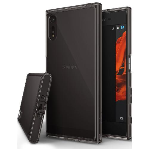 Sony Xperia XZ Case, Ringke [FUSION] Shock Absorption TPU Bumper Clear Case - Smoke Black