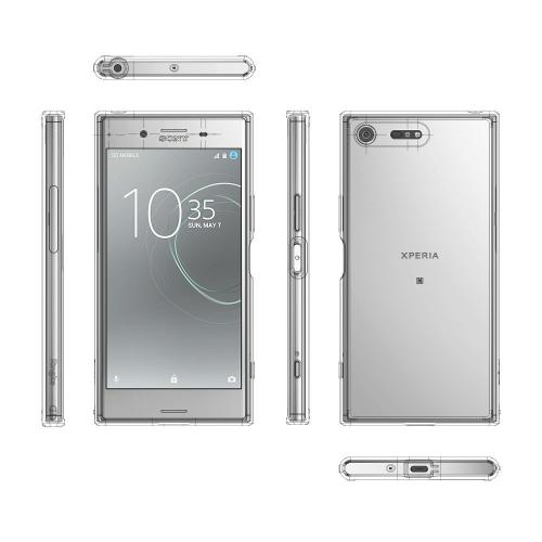 Sony Xperia XZ Premium Case, Ringke [FUSION] Crystal Clear PC Back TPU Bumper Drop Protection Cover - Smoke Black