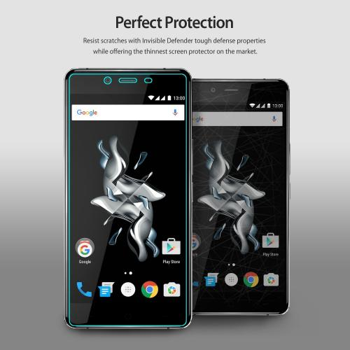 OnePlus X Screen Protector - Ringke Invisible Defender Premium HD Crystal Clear Screen Protector [3 Front+1 Back]