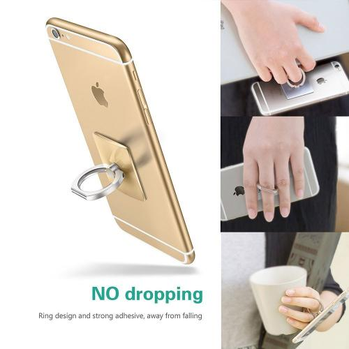 Phone Ring Stand Holder, 360 Degree Rotation Phone Grip Kickstand For Universal Smartphone Cell Phone Ring [Silver]