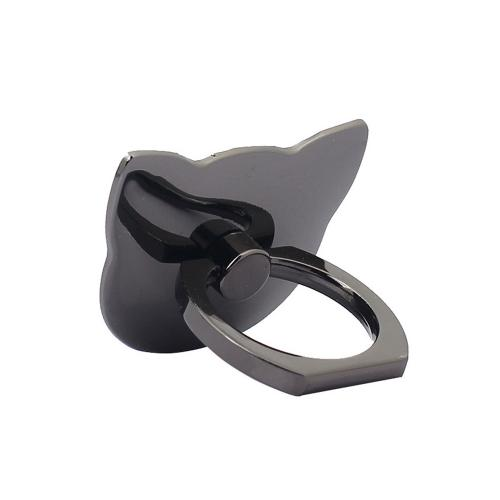 Phone Ring Stand Holder, [Black Cat] 360 Degree Rotation Phone Grip Kickstand For Universal Smartphones Cell Phone