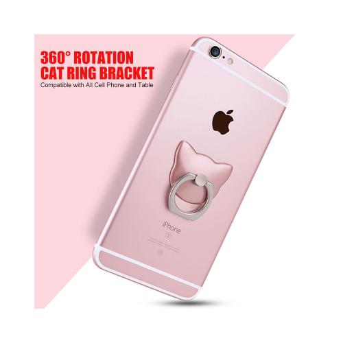 Phone Ring Stand Holder, [Gold Cat] 360 Degree Rotation Phone Grip Kickstand For Universal Smartphones Cell Phone