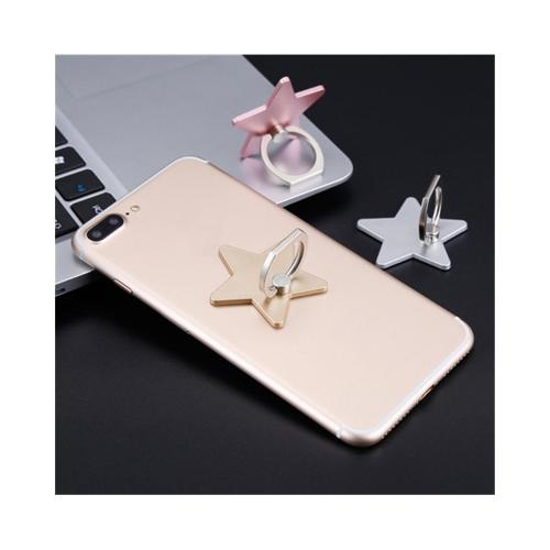 Phone Ring Stand Holder, [Gold Star] 360 Degree Rotation Phone Grip Kickstand For Universal Smartphones Cell Phone