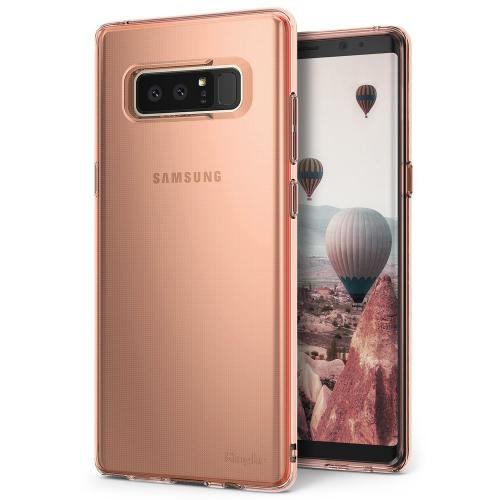 Samsung Galaxy Note 8 Case, Ringke [AIR] Flexible Transparent Lightweight & Soft TPU Protective Cover - Rose Gold