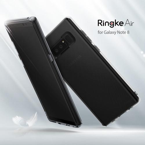 Samsung Galaxy Note 8 Case, Ringke [AIR] Flexible Transparent Lightweight & Soft TPU Protective Cover - Smoke Black