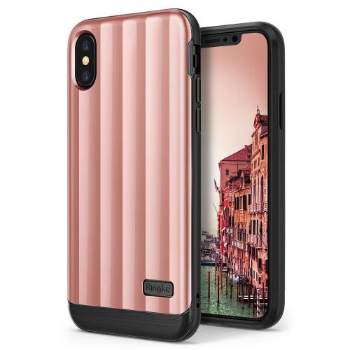 Apple iPhone X Case, Ringke [FLEX S PRO] Glossy Premium Coating Shockproof Cover Case - Rose Pink