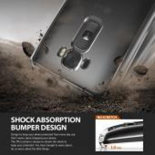 G Flex 2 Fusion Bumper Case by Ringke [Smoke Black] Featuring Shock Absorption TPU Bumper with Hard Polycarbonate Back & Screen Protector