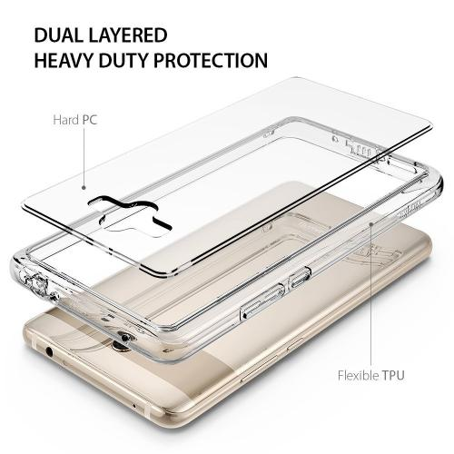 Huawei Mate 10 Case, Ringke [FUSION] Crystal Clear PC Back TPU Bumper Natural Shape Protection Cover with Wrist Strap - Clear
