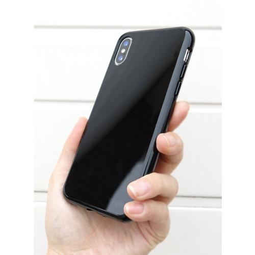Apple iPhone X Case, Ringke [FUSION] Tough PC Back TPU Bumper Drop Protection Cover - Shadow Black