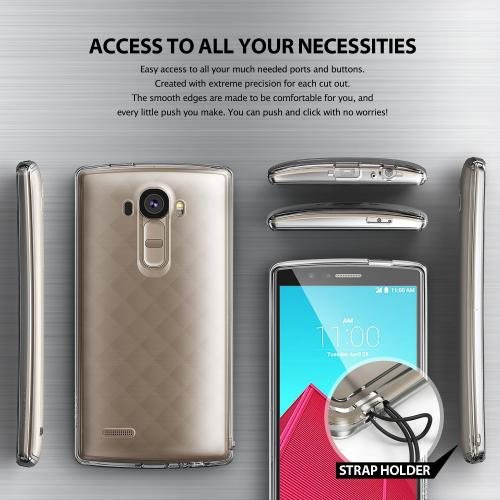 LG G4 Case, Ringke [Black] FUSION Series Crystal Back Bumper Case w/ Free Screen Protector