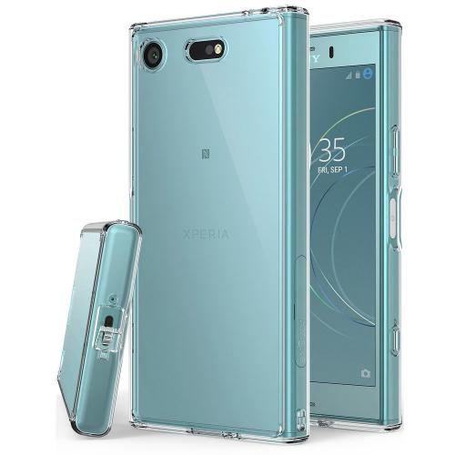 Sony Xperia XZ1 Compact Case, Ringke [FUSION] Crystal Clear PC Back TPU Bumper Drop Protection Cover - Clear