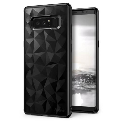 Samsung Galaxy Note 8 Case, Ringke [AIR PRISM] 3D Geometric Design TPU Pyramid Pattern Textured Protective Cover -  Ink Black