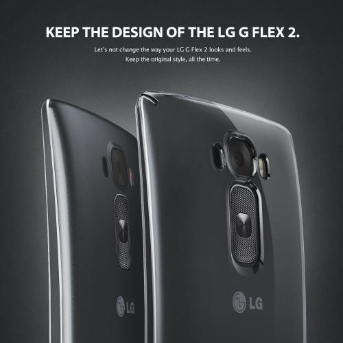 Ringke Black SLIM Series Dual Coating Perfect Grip Hard Case for LG G Flex 2