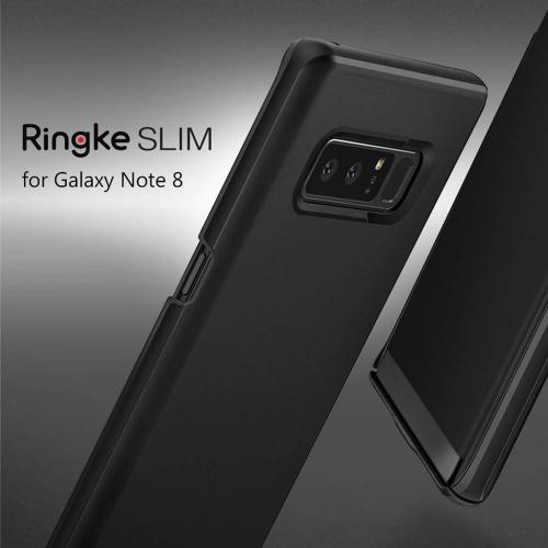 Samsung Galaxy Note 8 Case, Ringke [SLIM] Lightweight Thin Hard PC Protective Cover - Black