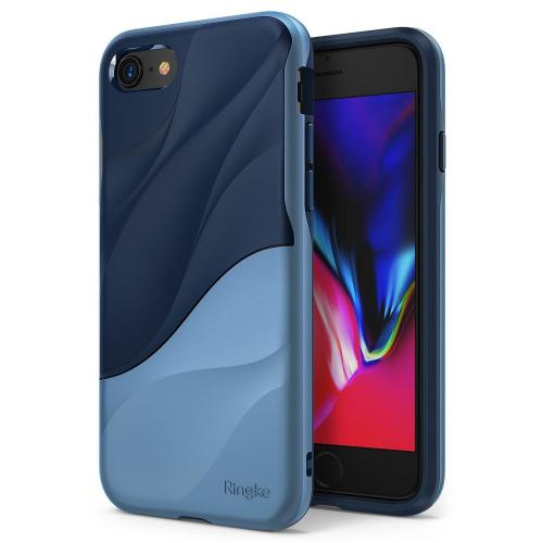 Apple iPhone 8/ iPhone 7 Case, Ringke [WAVE] Dual Layer Heavy Duty Shockproof PC TPU Protective Cover - Coastal Blue