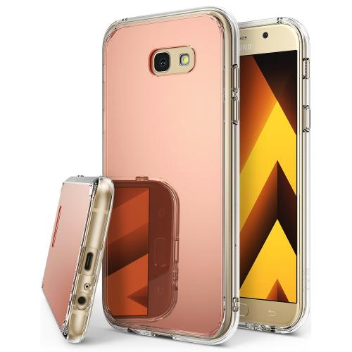 Samsung Galaxy A3 2017 Case, Ringke [FUSION MIRROR] Beauty Reflection Radiant Luxury Mirror Protection Cover - Rose Gold