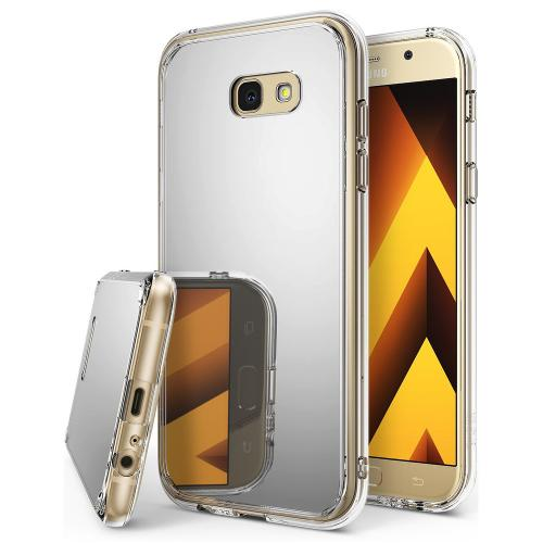 Samsung Galaxy A3 2017 Case, Ringke [FUSION MIRROR] Beauty Reflection Radiant Luxury Mirror Protection Cover - Silver