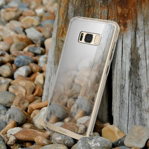 Samsung Galaxy S8 Slim Case, Ringke [Fusion Mirror] Bright Reflection Radiant Luxury Mirror Bumper [Shock Absorption Technology] Slim Stylish Protective Cover - Royal Gold
