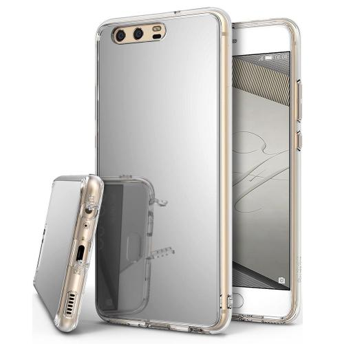 Huawei P10 Case, Ringke [FUSION MIRROR] Bright Reflection Radiant Luxury Mirror Protection Cover - Silver