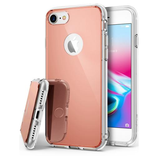[Ringke] Apple iPhone 8 Plus / 7 Plus / 6S Plus / 6 Plus Case, [FUSION MIRROR] Beauty Reflection Radiant Luxury Mirror Protection Cover [Rose Gold]