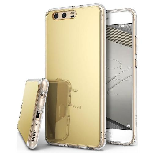 Huawei P10 Plus Case, Ringke [FUSION MIRROR] Bright Reflection Radiant Luxury Mirror Protection Cover - Royal Gold