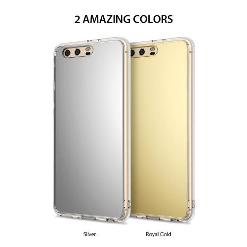 Huawei P10 Plus Case, Ringke [FUSION MIRROR] Bright Reflection Radiant Luxury Mirror Protection Cover - Silver