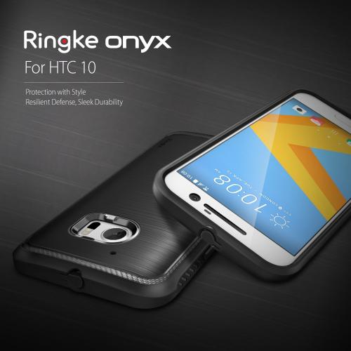 HTC 10 Case, Ringke ONYX [Black] Durable Anti-Slip Drop Protection, TPU Defensive Case for HTC HTC 10