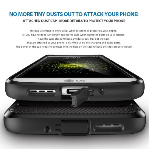 LG G5  Case, Ringke [Mist Gray] ONYX Durable Anti-Slip Drop Protection, TPU Defensive Case