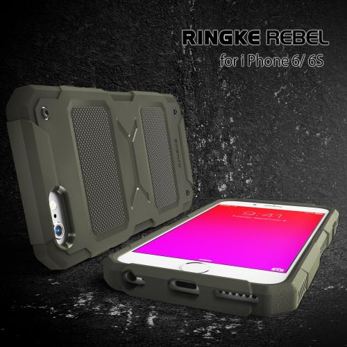 Apple iPhone 6 PLUS/6S PLUS (5.5 inch) Case, Ringke REBEL Series [Olive] Improved Strength Flexible TPU Defensive Hybrid Case