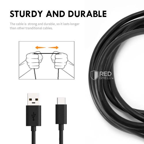 RED SHIELD 3ft Micro USB Cable, High Speed USB 2.0 Charge, Sync, and Data Transfer. Extra Thicker Cable for Maximum Performance and Longer Durability. Compatible with All Android Devices.