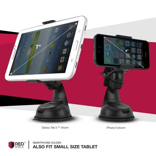RedShield [Type S] [Midnight Black] Windshield Dashboard Car Mount Smart Phone & GPS Holder