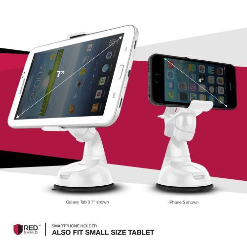 RedShield [Type S] [Artic White] Windshield Dashboard Car Mount Smart Phone & GPS Holder