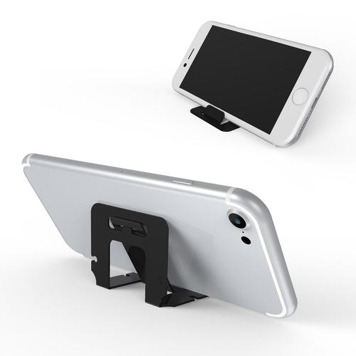RED SHIELD Universal & Portable Phone Stand. Flexible, Foldable Credit Card Size. Perfect for Viewing Movies & Videos on Your Smartphone in Landscape. Works as Earphone, Earbud Cord Organizer. [3 PK]