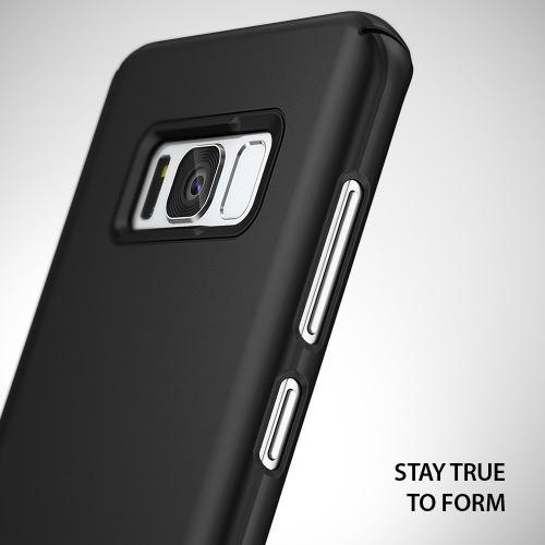 Galaxy S8 Plus Case, Ringke [SLIM] Dazzling Slender Laser Precision Cutouts Fashionable and Classy Superior Steadfast Bolstered PC Hard Skin Cover for Samsung Galaxy S8 Plus - SF Black