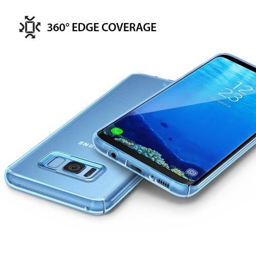 Galaxy S8 Plus Case, Ringke [SLIM Series] Slender [Laser Precision Cutouts] PC Hard Skin Cover for Samsung Galaxy S8+ [Frost Blue]