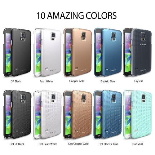 Ringke Copper Gold SLIM Series Dual Coating Perfect Grip Hard Case for Samsung Galaxy S5