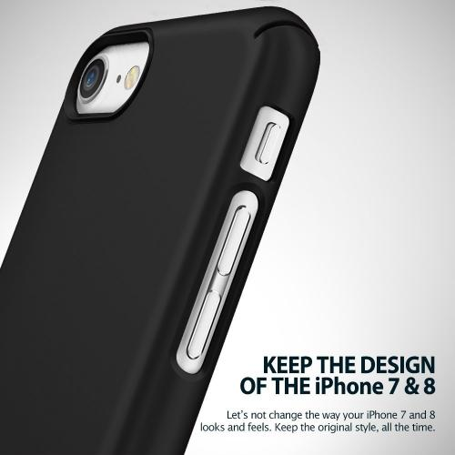 [Ringke] Apple iPhone 8 / 7 Case, [SLIM] Lightweight Thin PC Hard Shell Snug-Fit Protection Cover [SF Black]